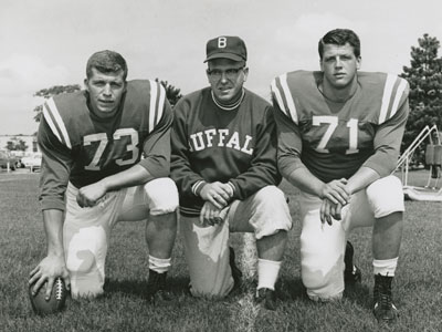 Buddy Ryan with Gerry Philbin (#73) and Kevin Brinkworth (#71) - 1962