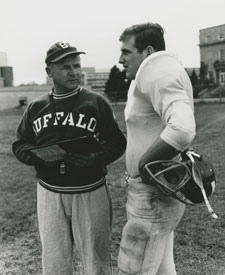 Buffalo coach Dick Offenhamer with Dom Piestrak