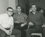 Jim McNally, Larry Gergley and Dennis Burden at a team meeting
