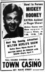 Mickey Rooney at Town Casino 1947