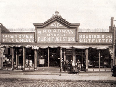 Broadway Market Furniture 1906