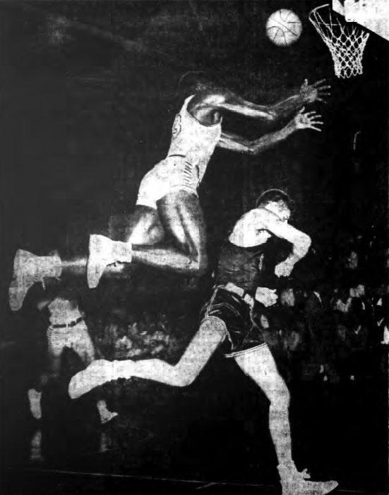 Jim Horne (#13), UB Varsity Basketball team player, versus Grove City