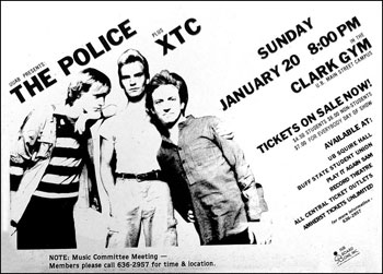 The Police with XTC at the Clark Gym on January 20, 1980