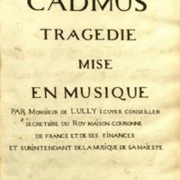 Cadmus et Hermione : Section 1 : Prologue
